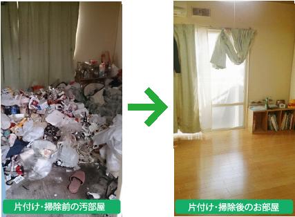 汚部屋の片付け事例1